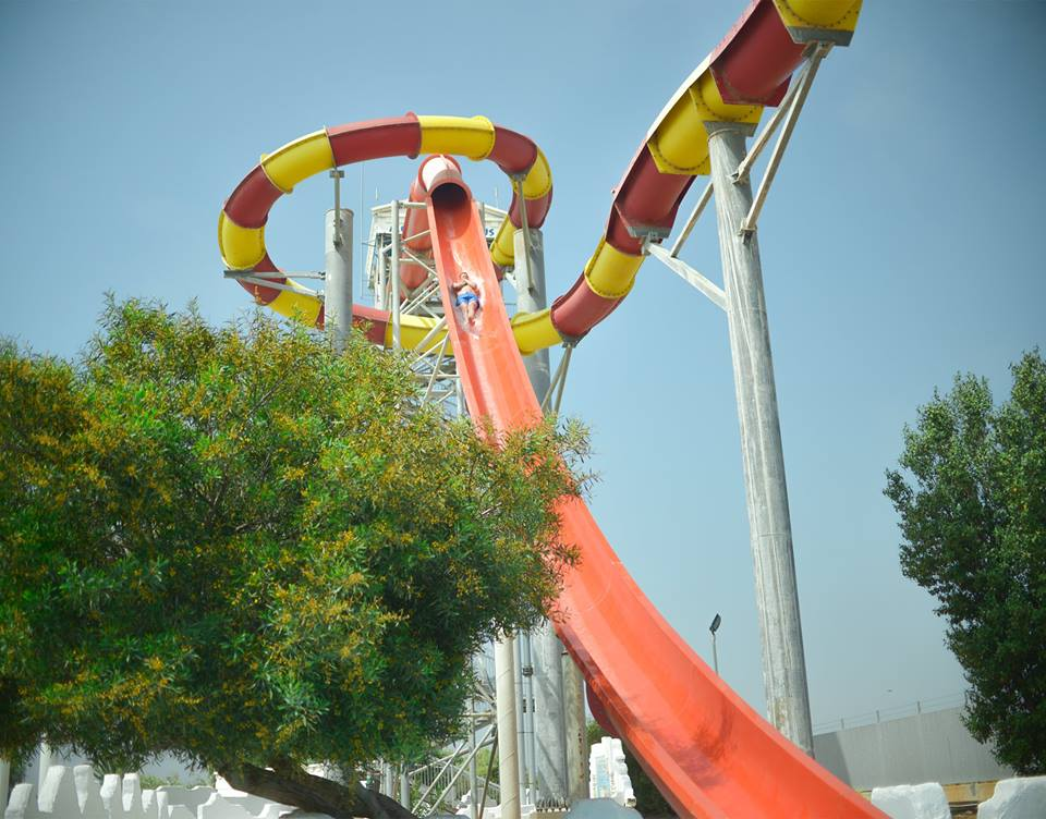 Kamikaze Slides at the waterpark in Ayia Napa Cyprus