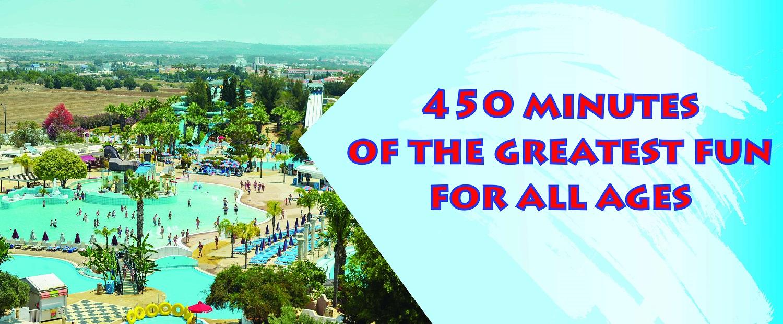 Waterworld themenbezogener Wasserpark Ayia Napa Zypern
