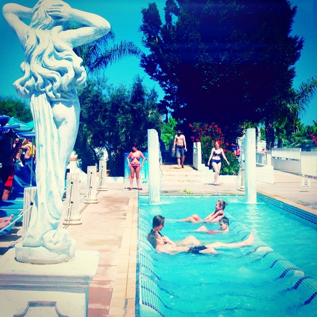 Aphrodites baths at WaterWorld Themed Waterpark Ayia Napa
