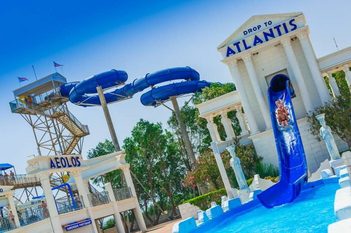 Drop to Atlantis Slide at WaterWorld Ayia Napa