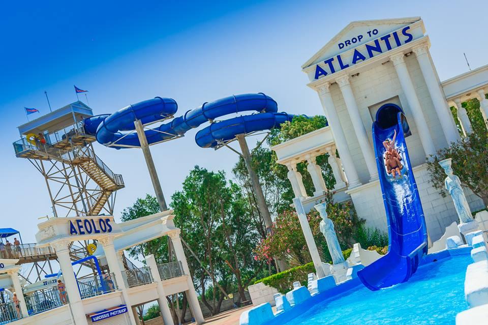 Drop to Atlantis Slide at WaterWorld Ayia Napa