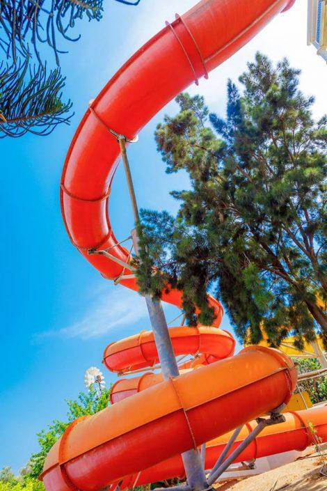 Phaethon's Flume slide at WaterWorld Themed Waterpark Ayia Napa Cyprus