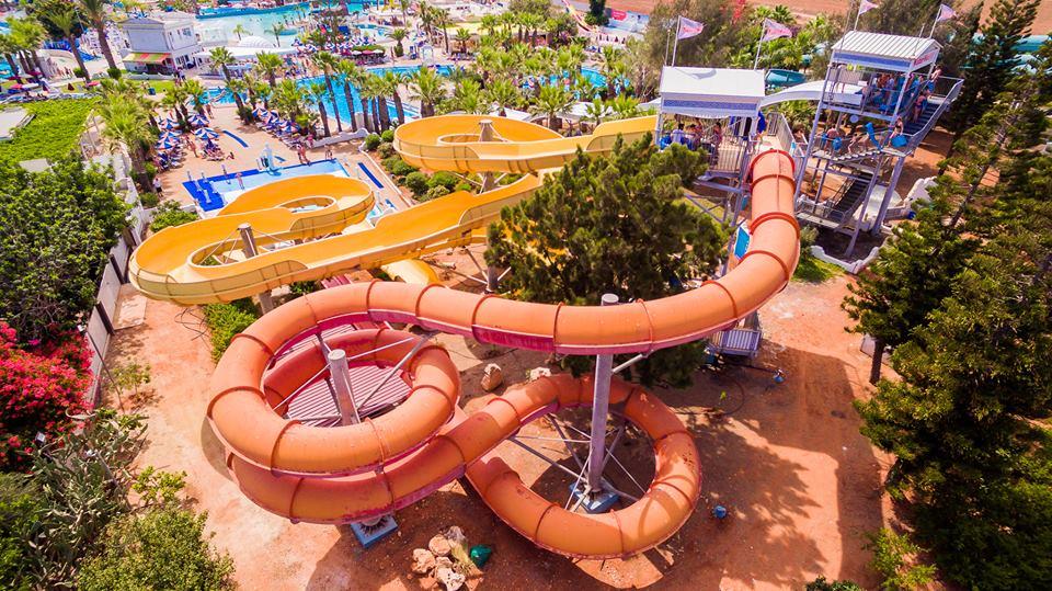 Phaethon's Flume slide at WaterWorld Themed Waterpark Ayia Napa