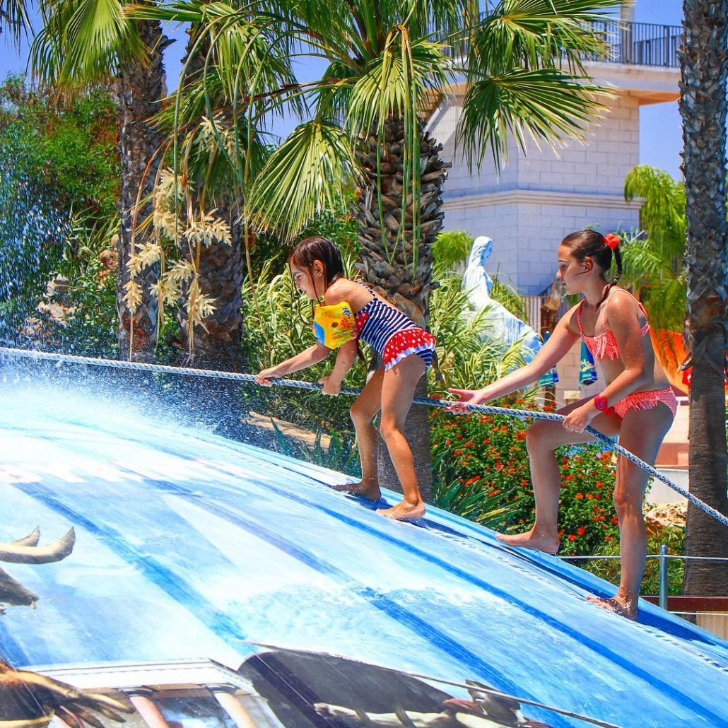 The Big wet Bubble at WaterWorld Themed Waterpark in Ayia Napa Cyprus