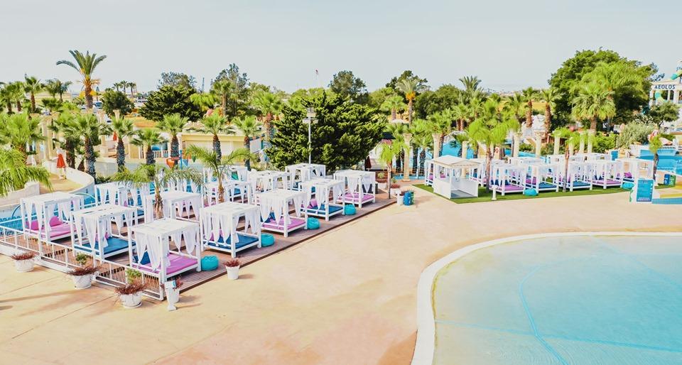 VIP Cabanas at WaterWorld Themed Waterpark Ayia Napa Cyprus
