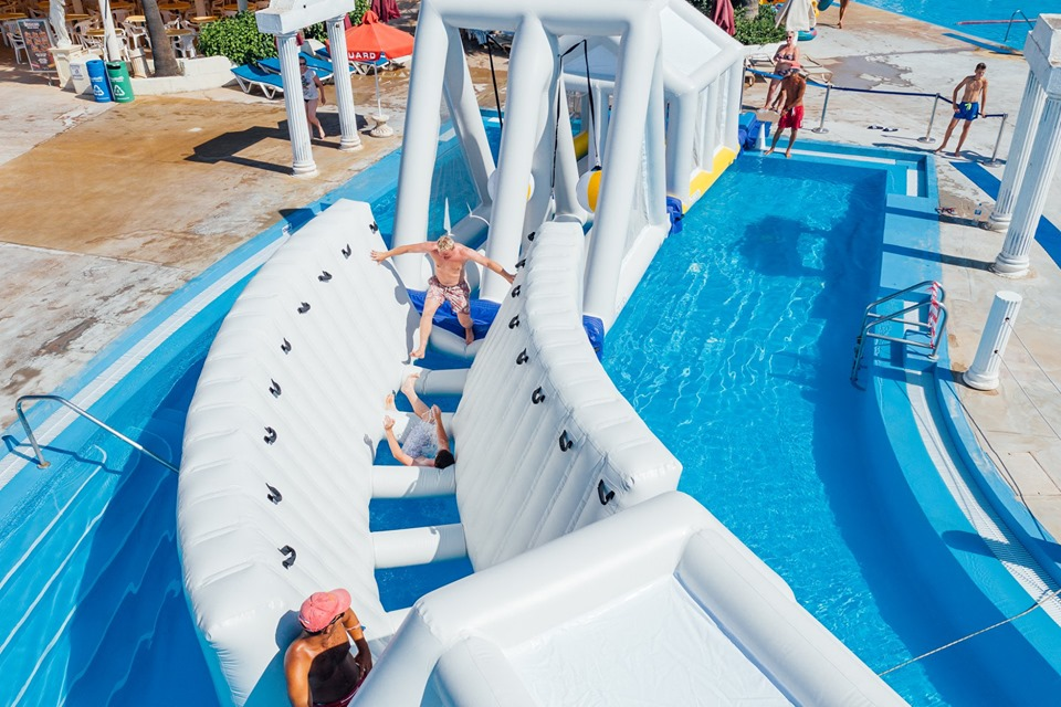 Marathons's Challenge Slide at WaterWorld Themed Water park Ayia Napa Cyprus