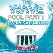 The Wave Pool Party Every Saturday at WaterWorld Ayia Napa Tickets