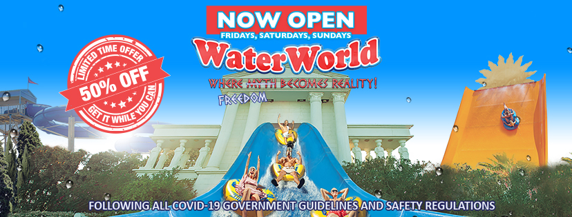 WaterWorld Ayia Napa open Fridays Saturdays Sundays