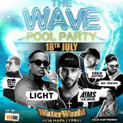 The Wave Pool Party Every Sunday at WaterWorld Themed Waterpark Ayia Napa